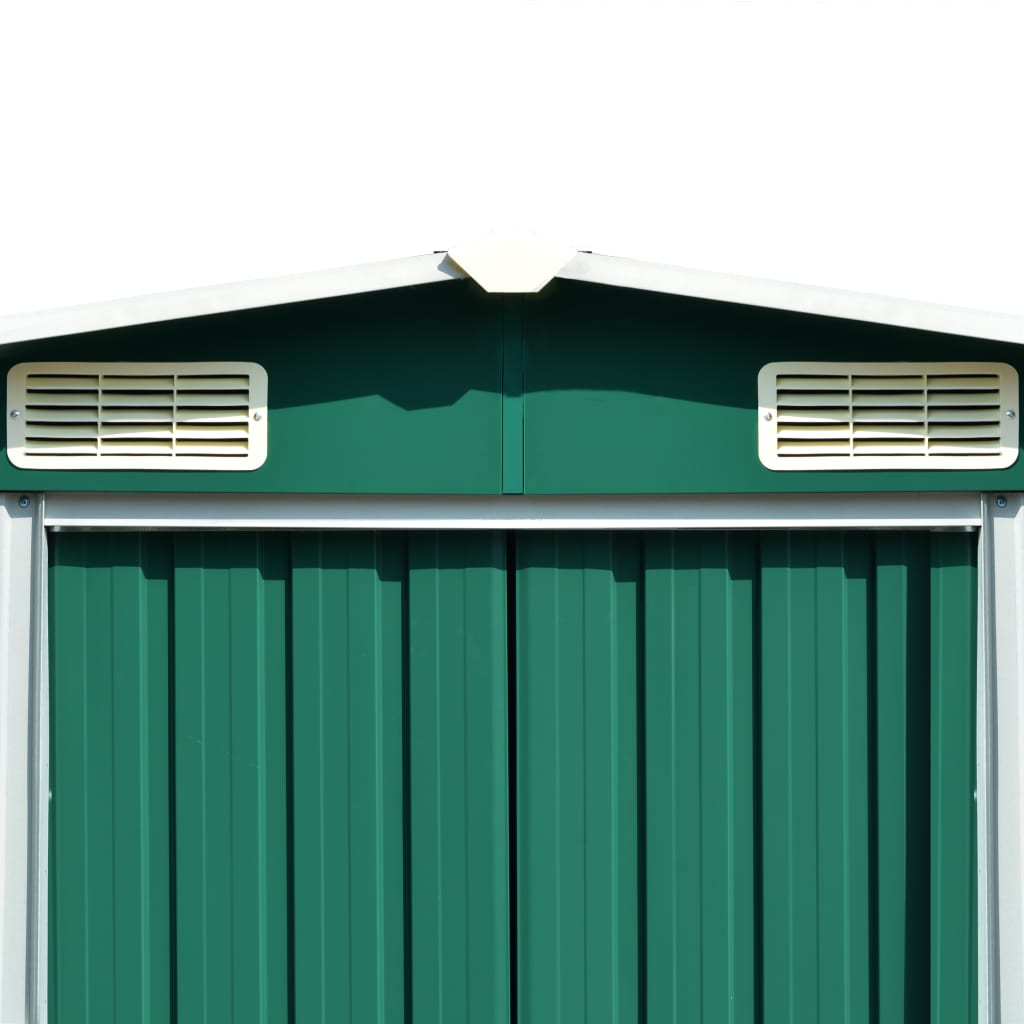 Garden Shed 257x597x178 cm Metal Green 8