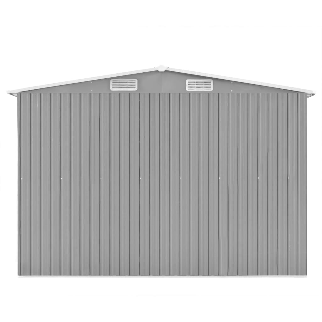 Garden Shed 257x597x178 cm Metal Grey 6