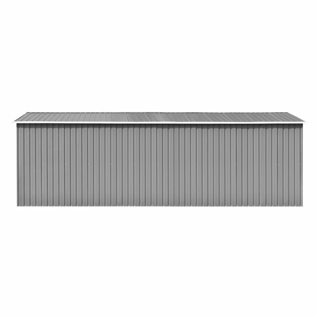 Garden Shed 257x597x178 cm Metal Grey 7