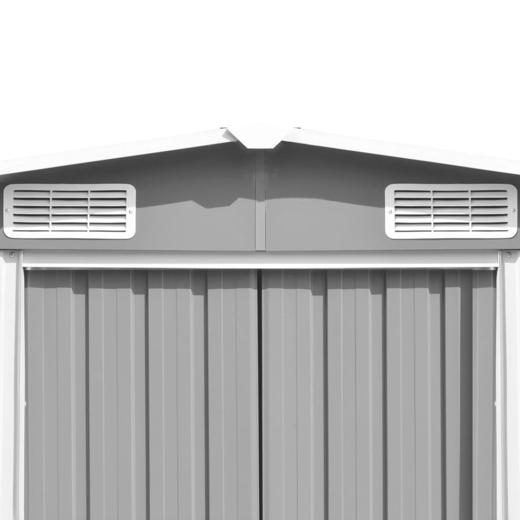 Garden Shed 257x597x178 cm Metal Grey 8