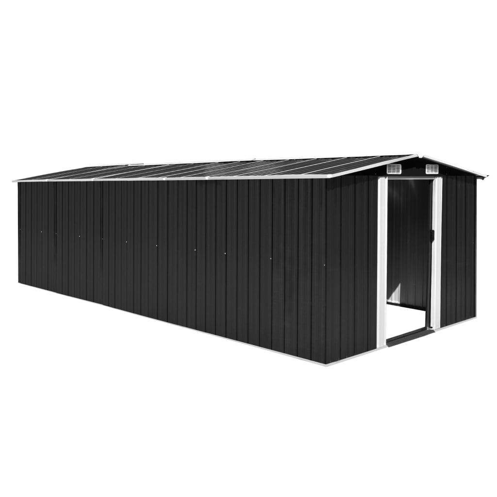 Garden Shed 257x597x178 cm Metal Anthracite 1