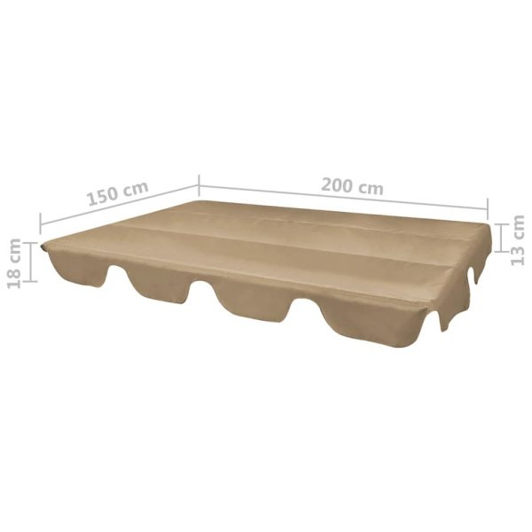 Replacement Canopy for Garden Swing Taupe 226×186 cm 4