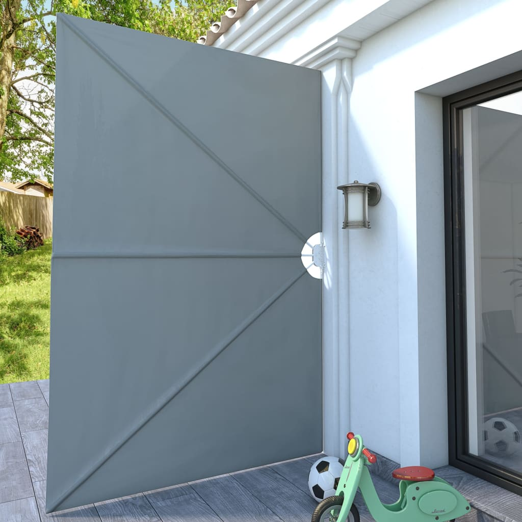 Collapsible Terrace Side Awning Grey 300×200 cm 3