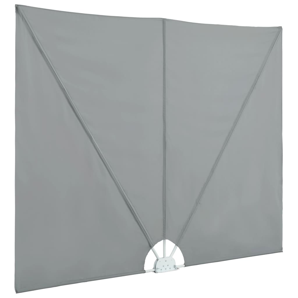 Collapsible Terrace Side Awning Grey 300×200 cm 6