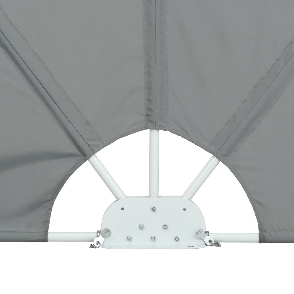 Collapsible Terrace Side Awning Grey 300×200 cm 9