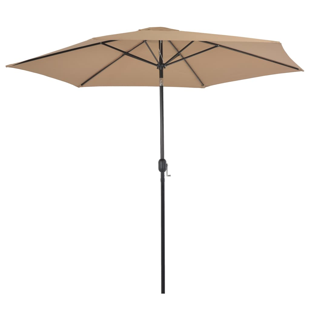 Outdoor Parasol with Metal Pole 300 cm Taupe
