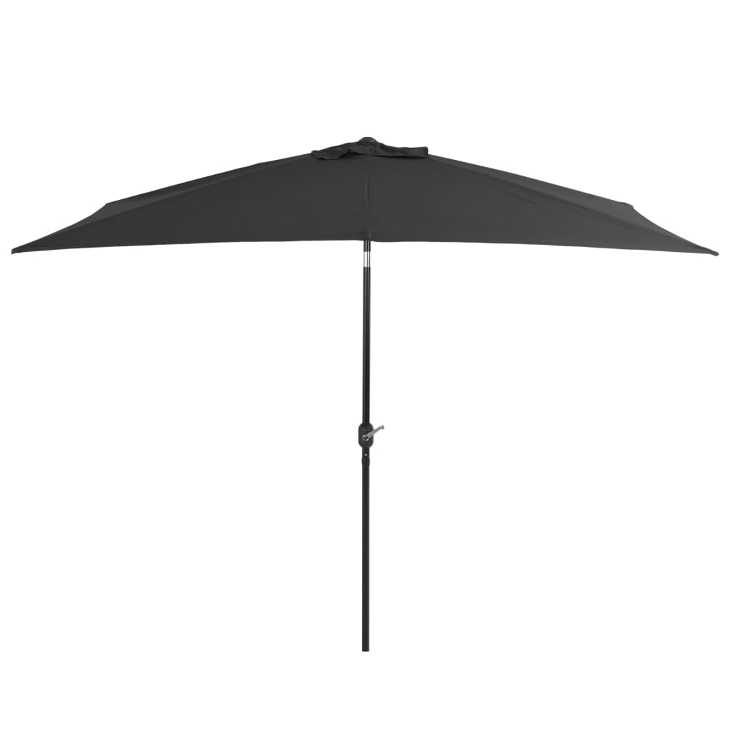 Outdoor Parasol with Metal Pole 300×200 cm Anthracite 1