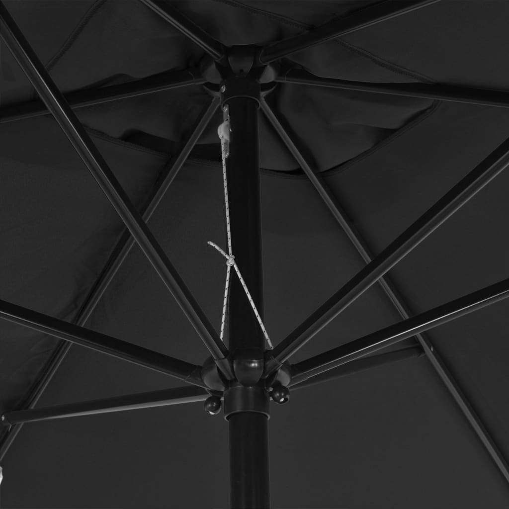 Outdoor Parasol with Metal Pole 300×200 cm Anthracite 2