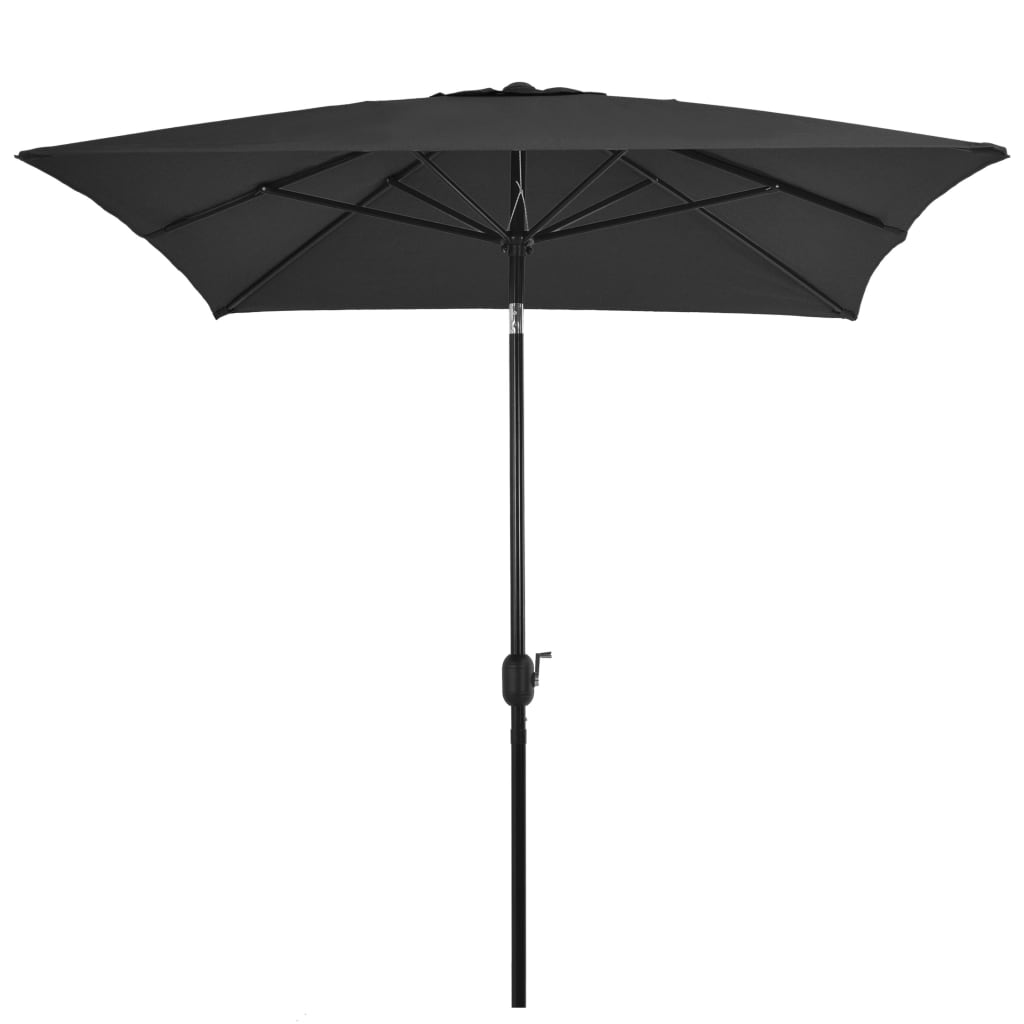 Outdoor Parasol with Metal Pole 300×200 cm Anthracite 3