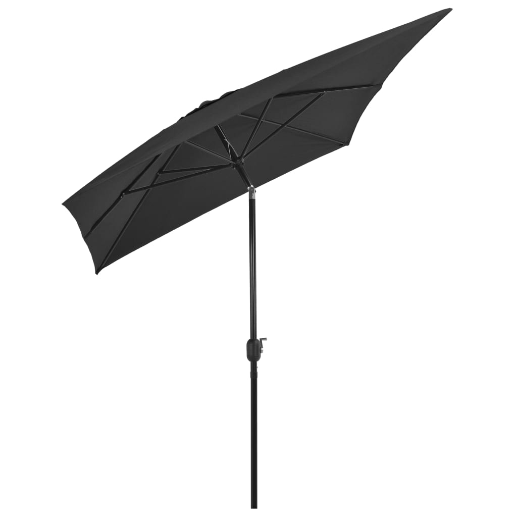 Outdoor Parasol with Metal Pole 300×200 cm Anthracite 4