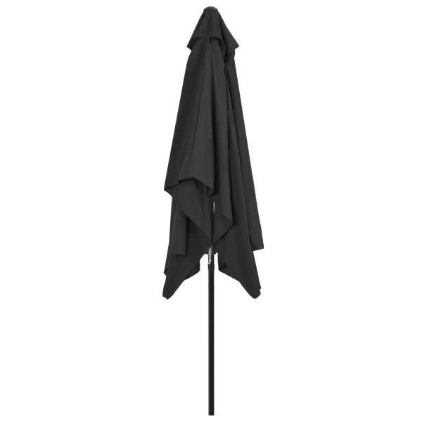 Outdoor Parasol with Metal Pole 300×200 cm Anthracite 5