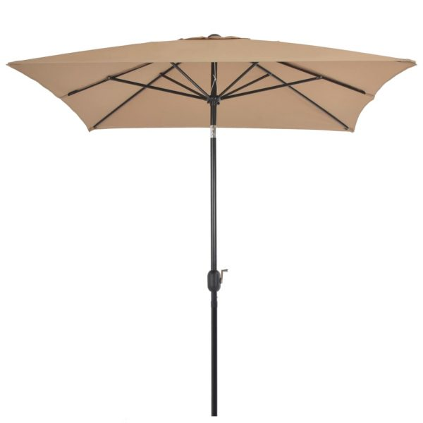 Outdoor Parasol with Metal Pole 300×200 cm Taupe 3