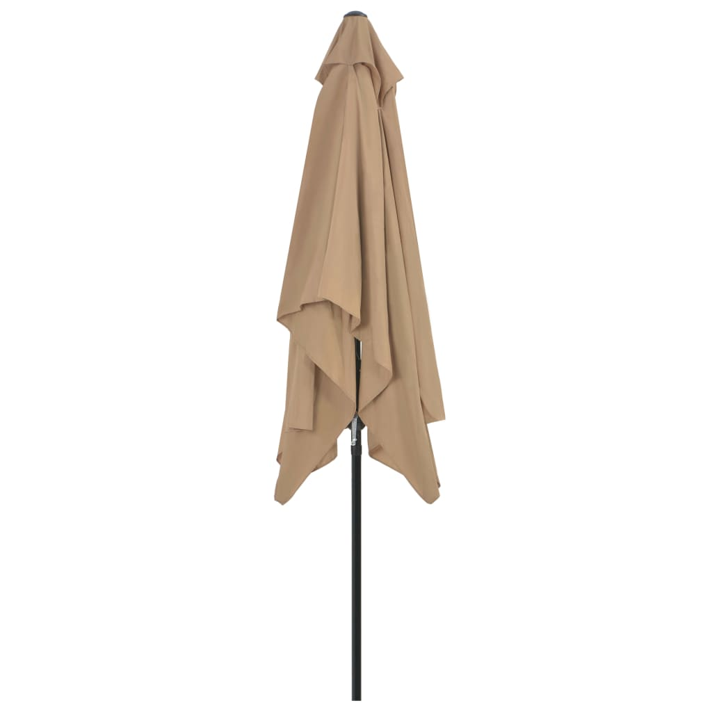 Outdoor Parasol with Metal Pole 300×200 cm Taupe 5