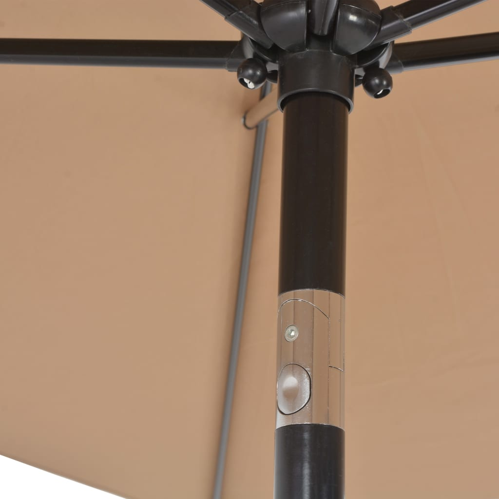 Outdoor Parasol with Metal Pole 300×200 cm Taupe 6
