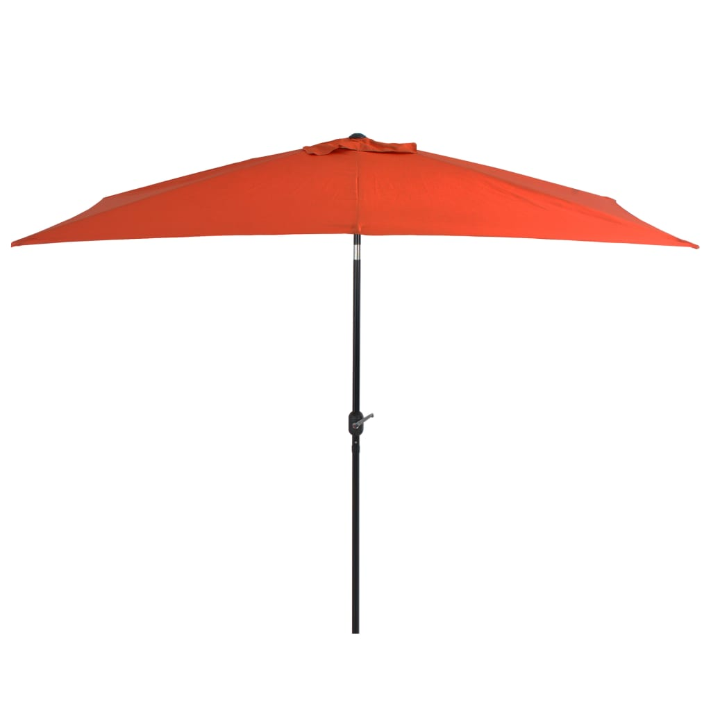 Outdoor Parasol with Metal Pole 300x200 cm Terracotta