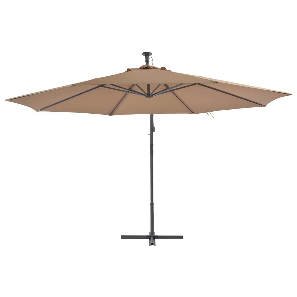 Cantilever Umbrella with Aluminium Pole 350 cm Taupe 3