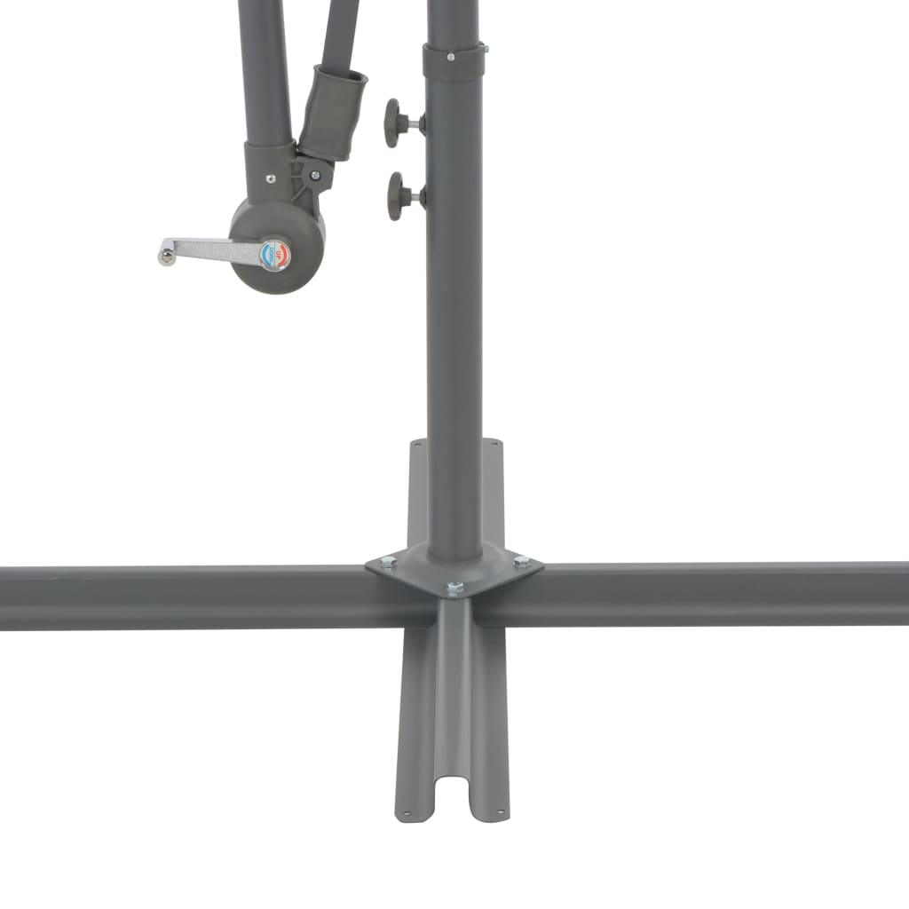 Cantilever Umbrella with Aluminium Pole 350 cm Taupe 5