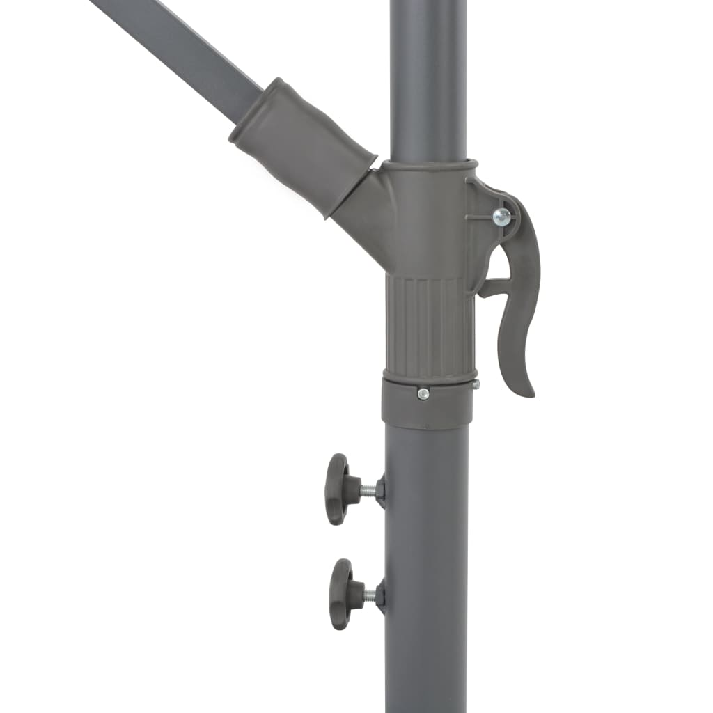 Cantilever Umbrella with Aluminium Pole 350 cm Taupe 7
