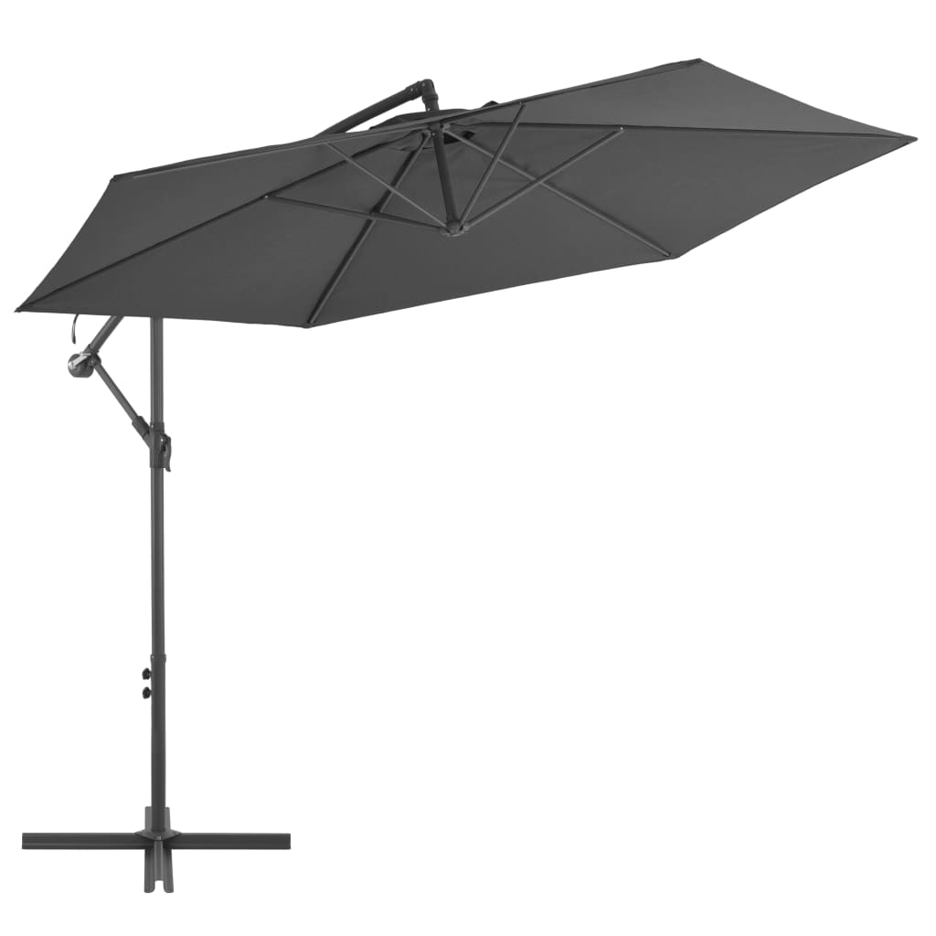 Cantilever Umbrella with Aluminium Pole 300 cm Anthracite 1