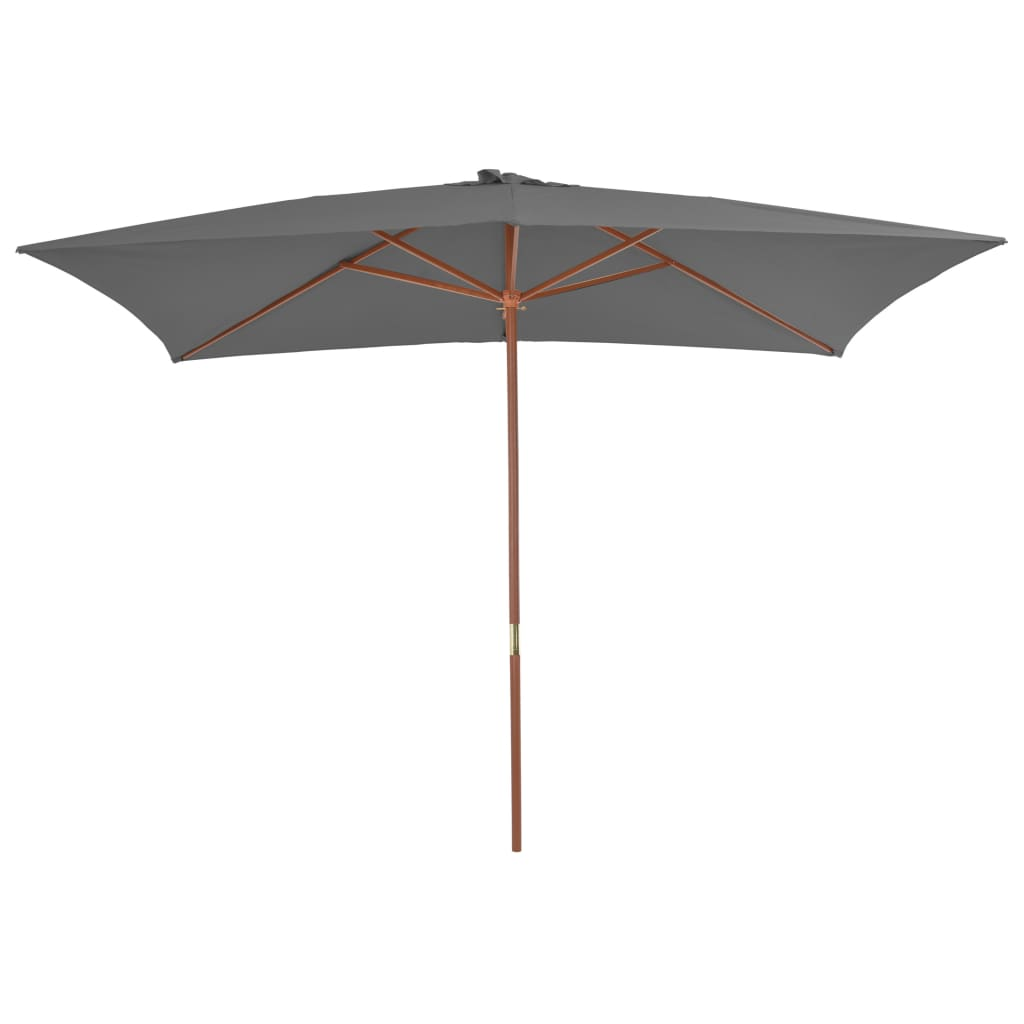 Outdoor Parasol with Wooden Pole 200×300 cm Anthracite 3