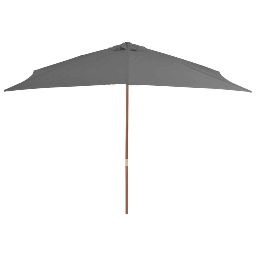 Outdoor Parasol with Wooden Pole 200×300 cm Anthracite 4