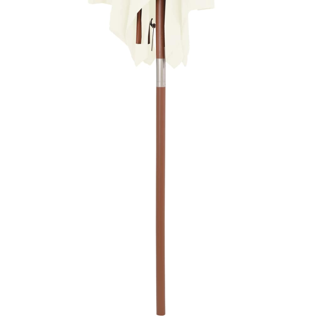Outdoor Parasol with Wooden Pole 150×200 cm Sand 7