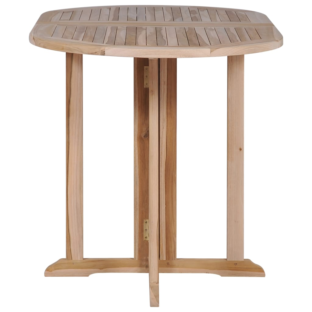 Folding Butterfly Garden Table 120x70x75 cm Solid Teak Wood 6