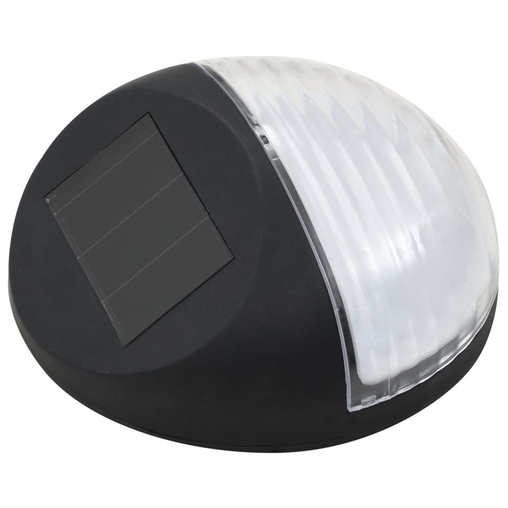 Outdoor Solar Wall Lamps LED 12 pcs Round Black 3