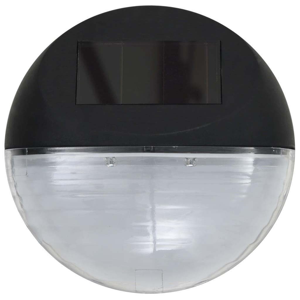 Outdoor Solar Wall Lamps LED 12 pcs Round Black 5