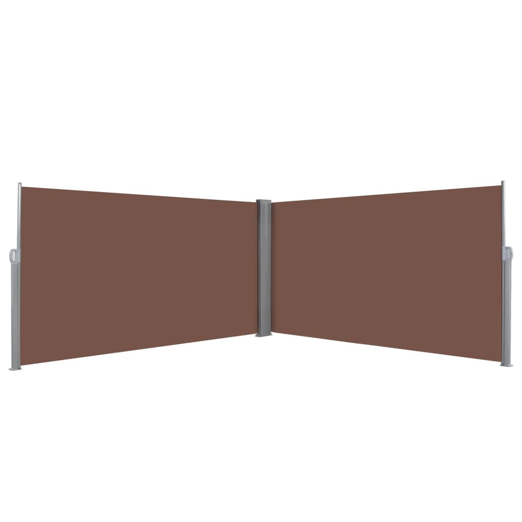Retractable Side Awning 160×600 cm Brown 1