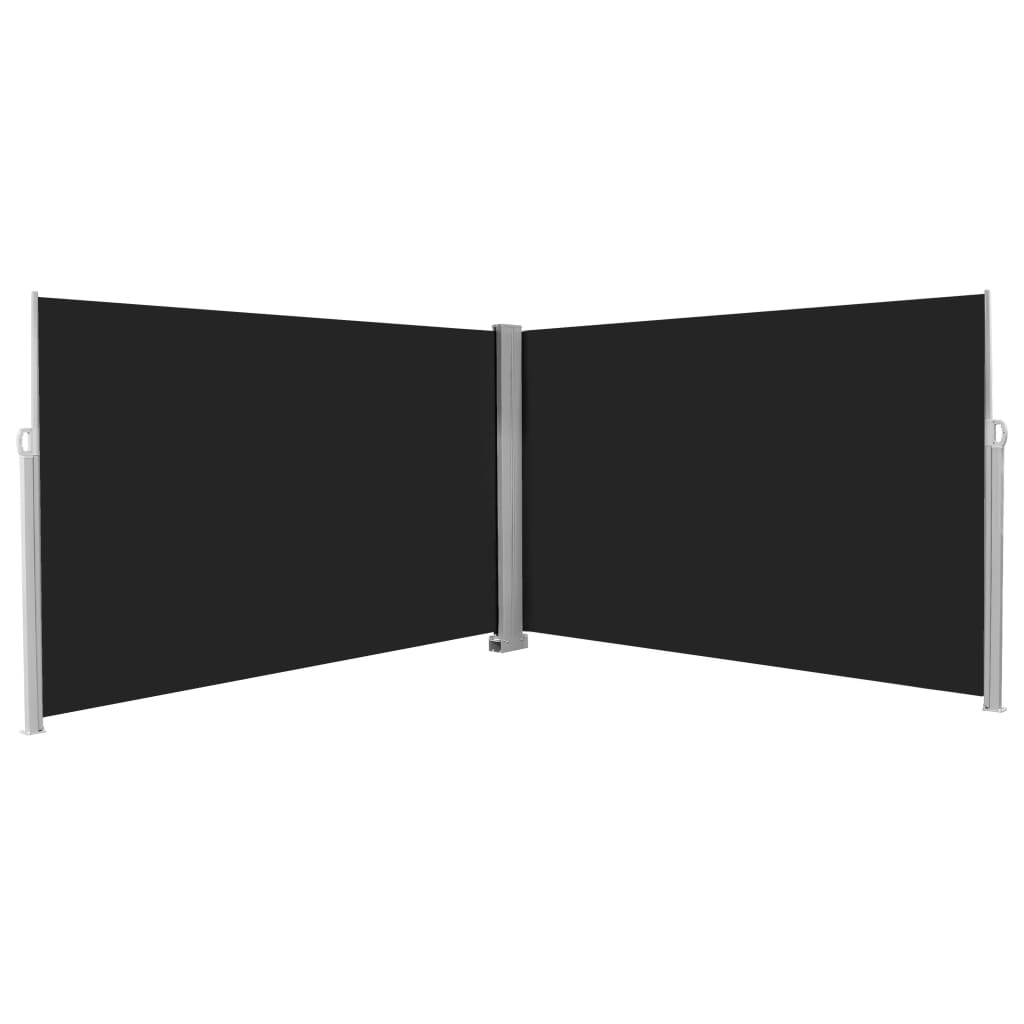 Retractable Side Awning 200x600 cm Black