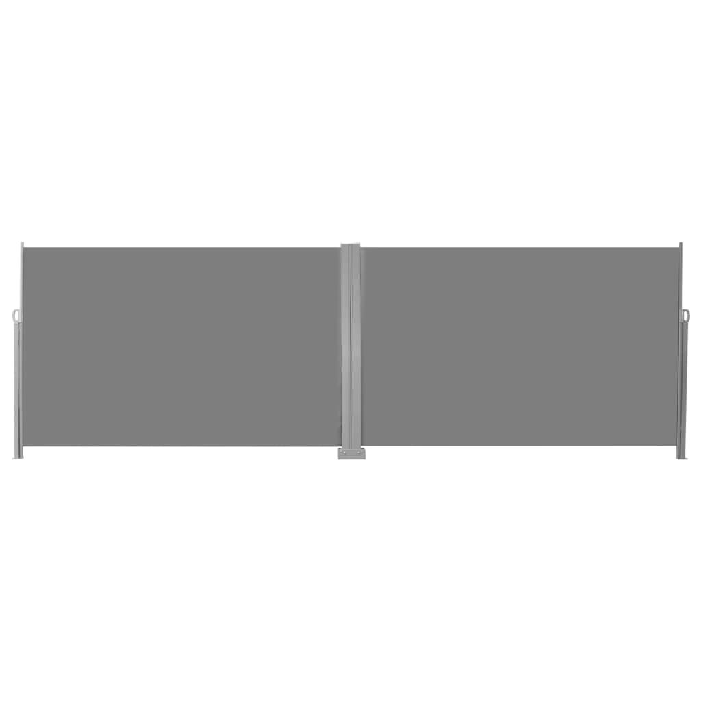 Retractable Side Awning 200×600 cm Grey 2