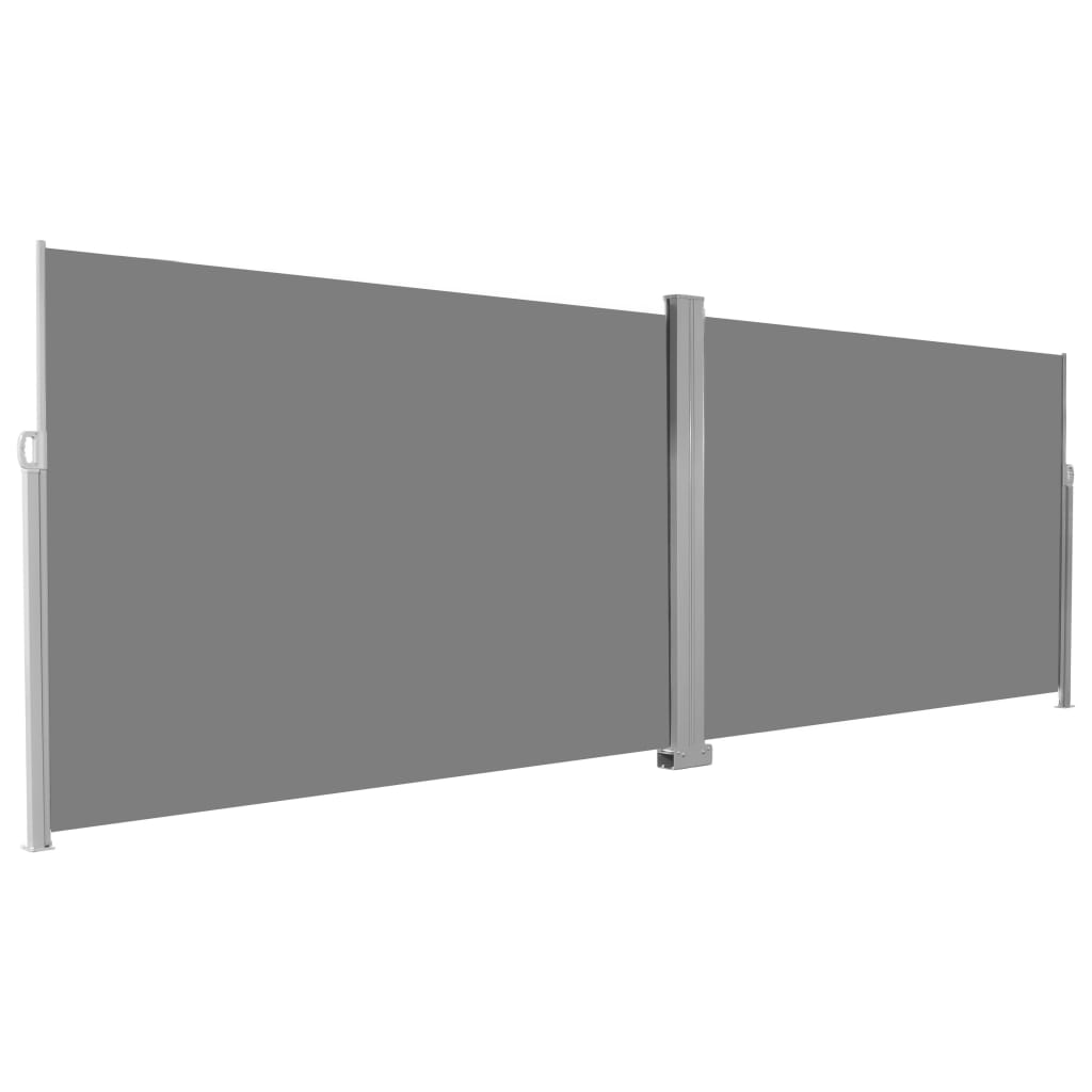Retractable Side Awning 200×600 cm Grey 3