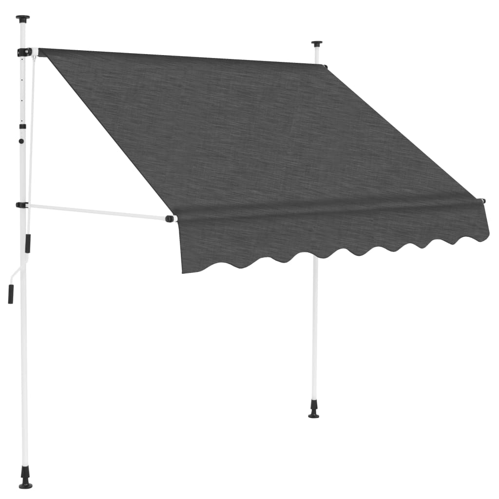 Manual Retractable Awning 200 cm Anthracite 1