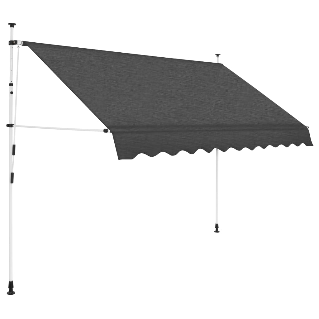 Manual Retractable Awning 250 cm Anthracite 1