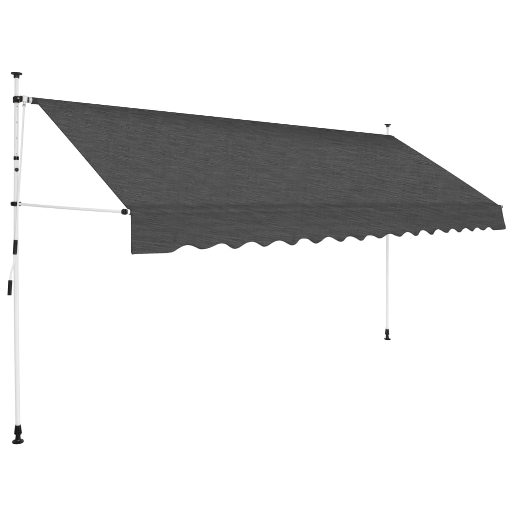 Manual Retractable Awning 350 cm Anthracite 1
