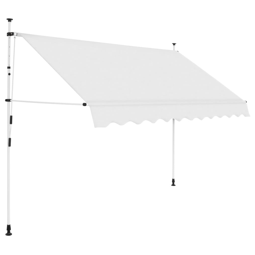 Manual Retractable Awning 250 cm Cream
