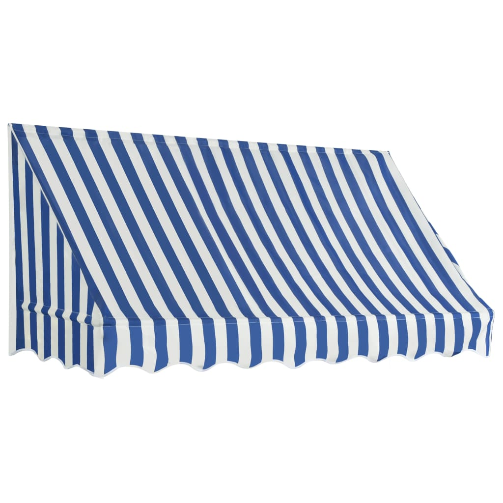Bistro Awning 200×120 cm Blue and White 2