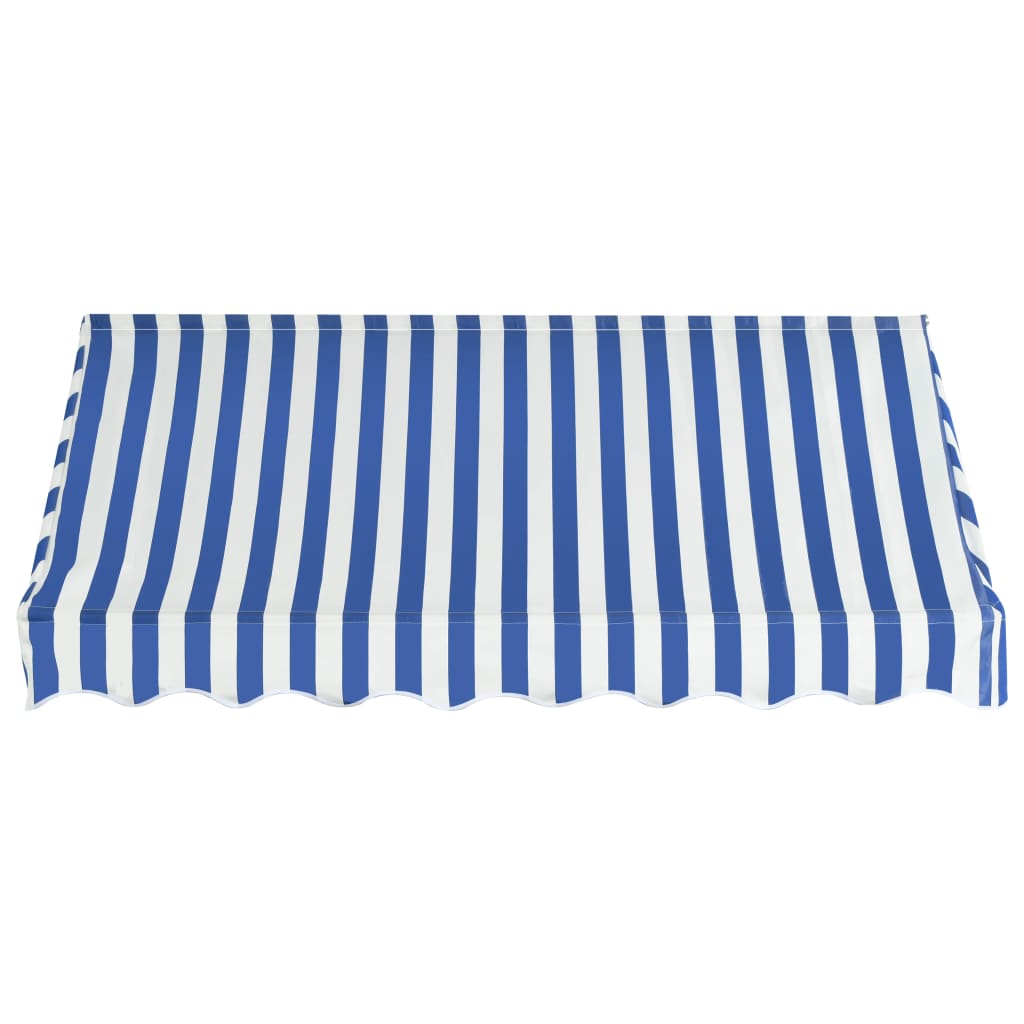 Bistro Awning 200×120 cm Blue and White 4