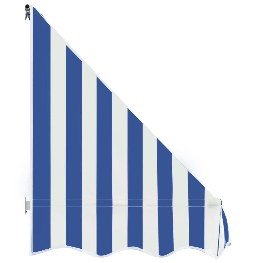 Bistro Awning 200×120 cm Blue and White 5
