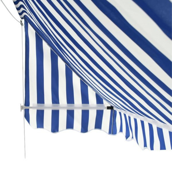 Bistro Awning 200×120 cm Blue and White 7