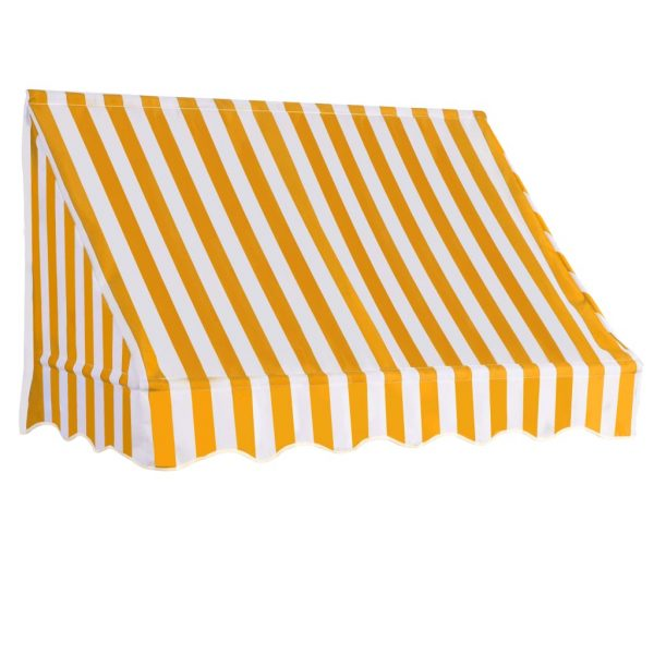 Bistro Awning 150×120 cm Orange and White 2