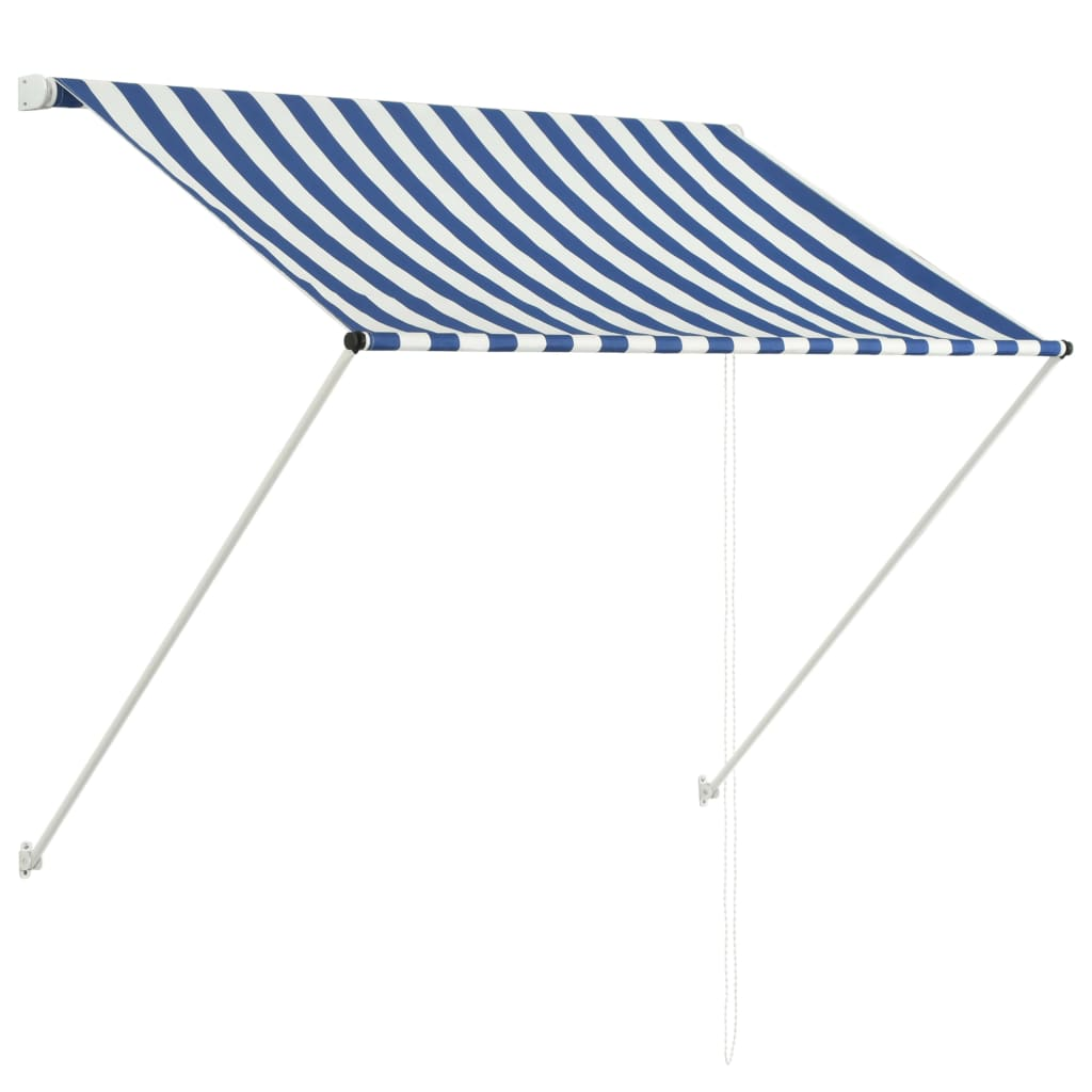 Retractable Awning 150x150 cm Blue and White