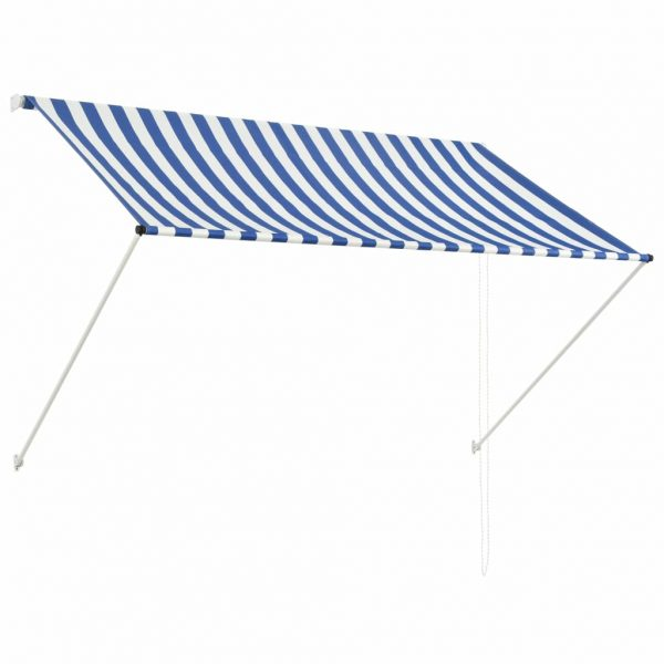 Retractable Awning 200×150 cm Blue and White 1