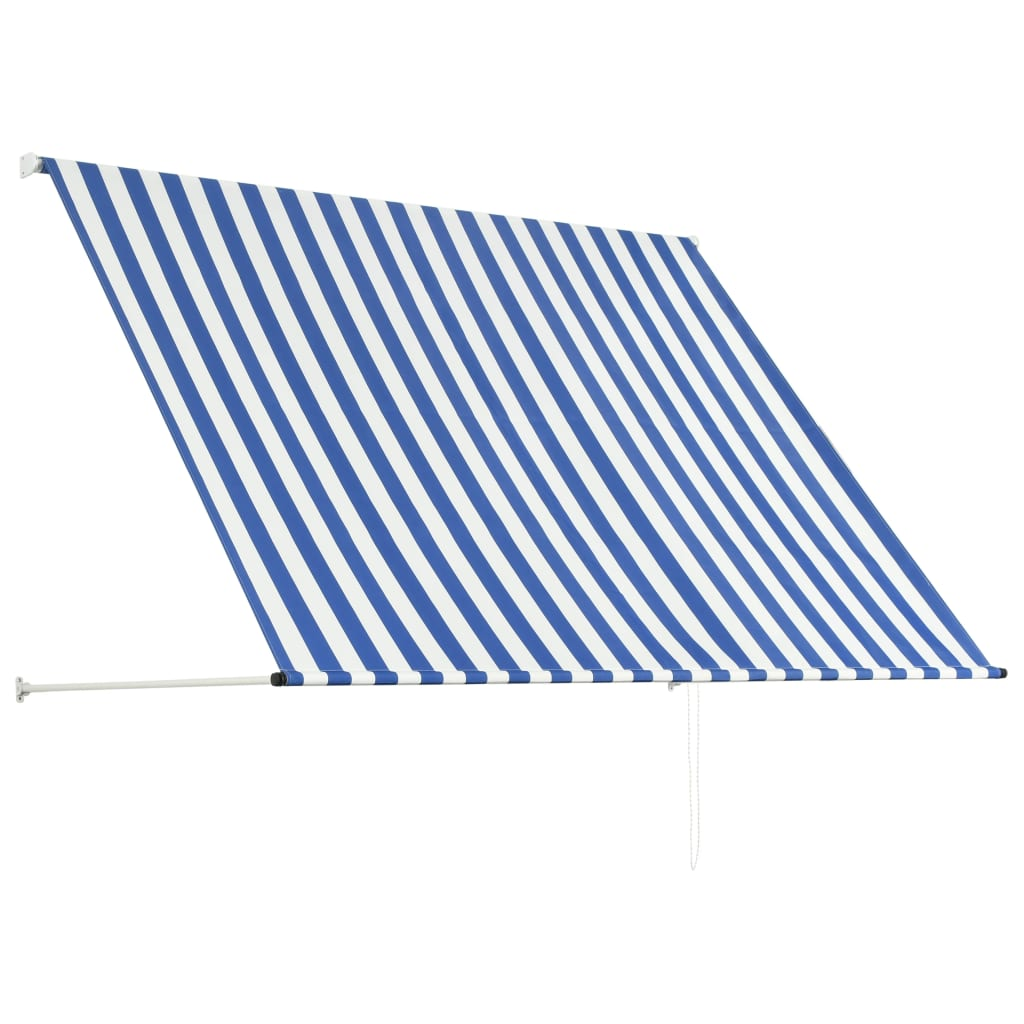 Retractable Awning 200×150 cm Blue and White 4