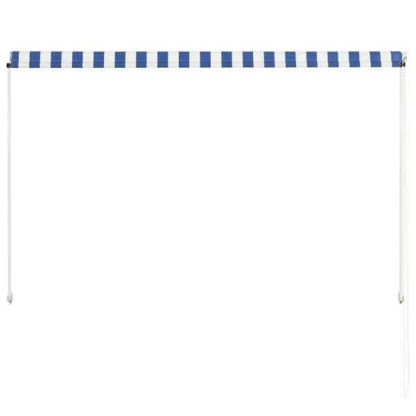 Retractable Awning 200×150 cm Blue and White 5