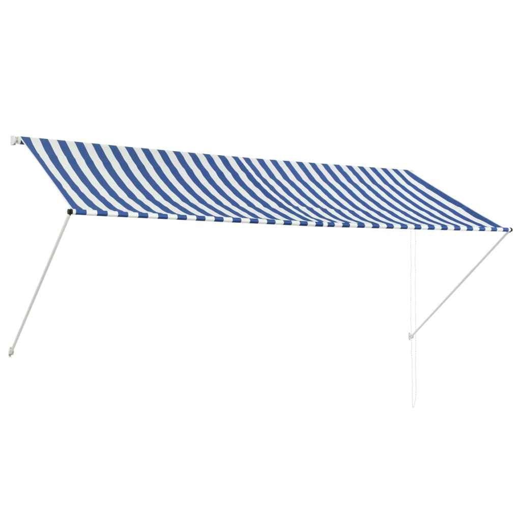 Retractable Awning 300x150 cm Blue and White