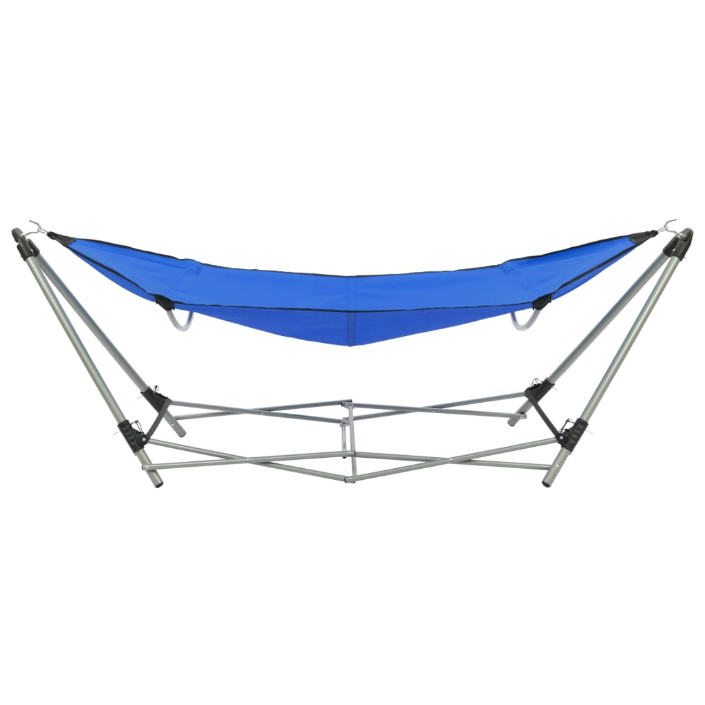 Hammock with Foldable Stand Blue 3
