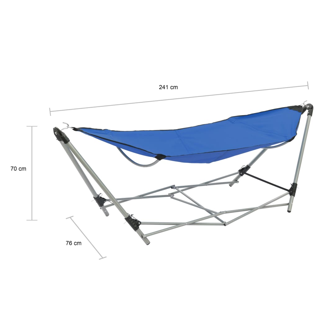Hammock with Foldable Stand Blue 10