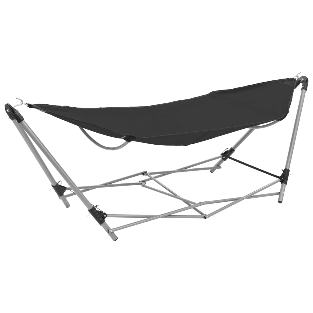 Hammock with Foldable Stand Black